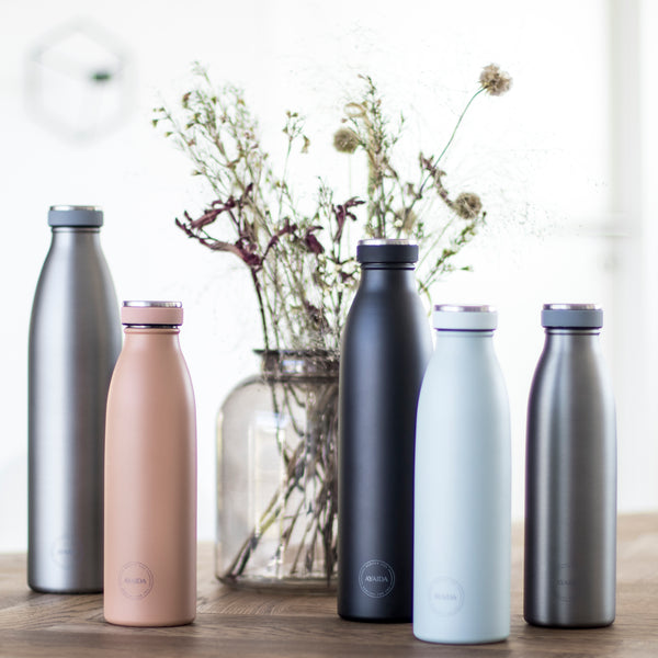 Reusable bottle hot or cold in Peach - 500ml - by Ayaida