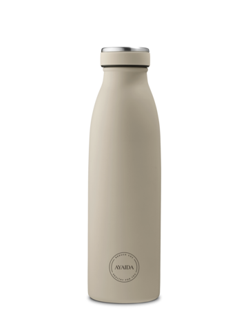 Reusable bottle hot or cold in Cream Beige - 500ml - by Ayaida