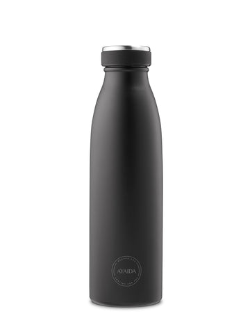 Reusable bottle hot or cold in Black - 500ml - by Ayaida