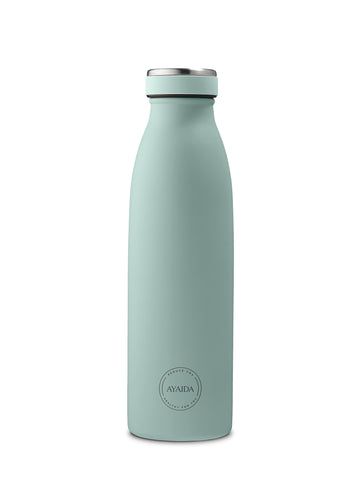 Reusable bottle hot or cold in Mint Green - 500ml - by Ayaida