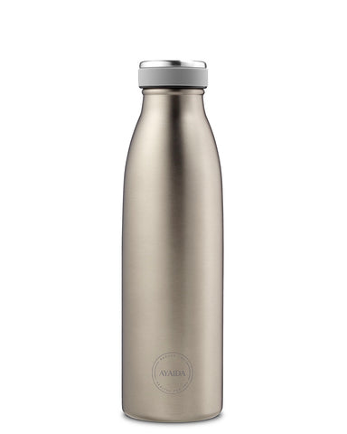 Reusable bottle hot or cold in Cool Grey - 500ml - by Ayaida