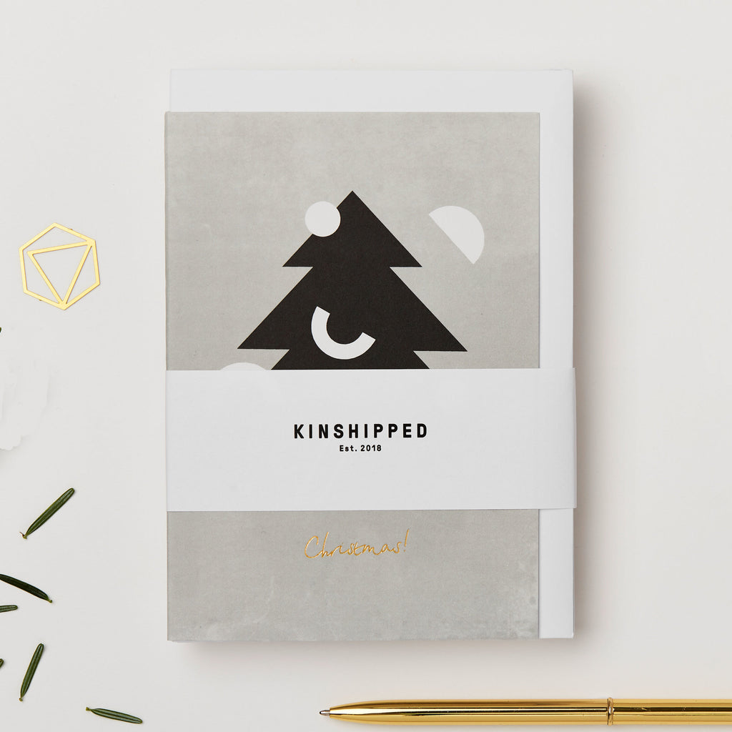 Christmas Tree Card - Pack of 6 - by Kinshipped