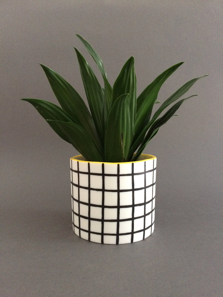Pot in Grid, large, by Steph Liddle Ceramics
