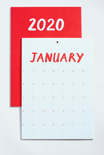 BLOKHOPE Calendar 2020 - Limited Edition Litho Printed - Red