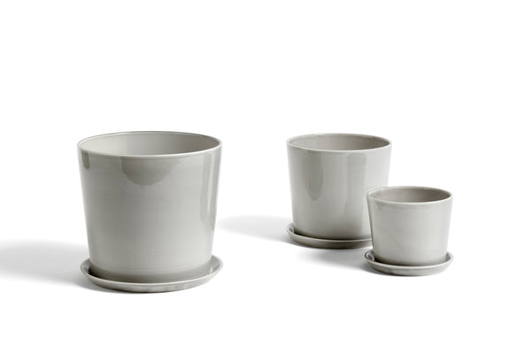 Medium Botanical Family Pot in Light Grey by HAY