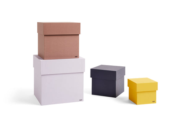 Box Box (set of 4) in Lavender/Yellow by HAY