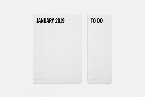 Monthly Notepad / Planner / Calendar with To Do sheets by Marjolein Delhaas