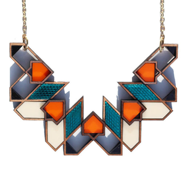 Image of Aziza pendant/necklace in teal by Chalk