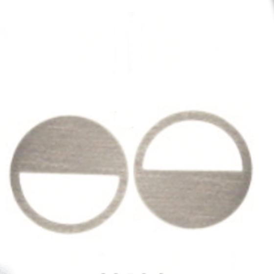Circle Cut Out Earrings in Stainless Steel by Days Of August