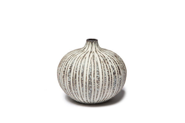 Vase 'Bari' In Stone Stripe Large with box by Lindform