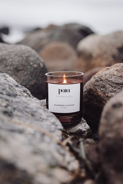 Blackberry & Vetiver Soy luxury candle by Paia Copenhagen