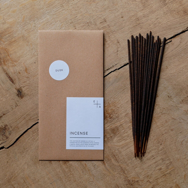 Incense sticks | Dusk | Vetiver Patchouli Geranium | by Essence + Alchemy