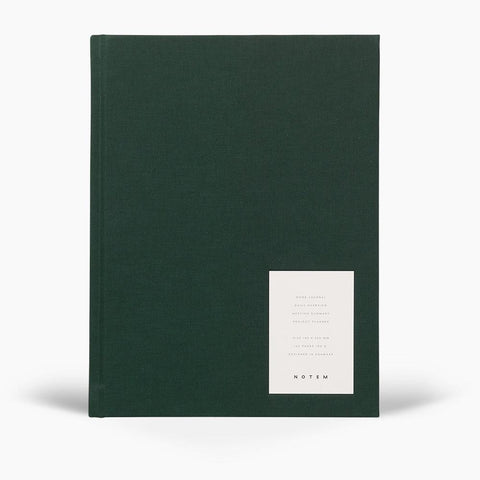 Green Weekly Journal ' Work ' with hard cloth cover by Notem Studio