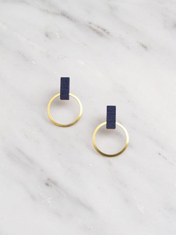 Elara studs in Midnight Blue by Wolf & Moon