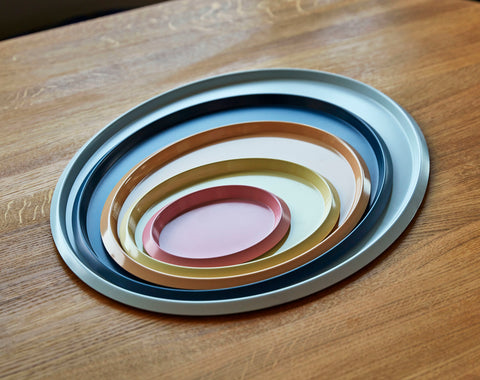 Ellipse Tray in Pink XS by HAY