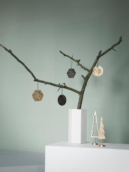 Winterland Black Brass Tree Outline Ornament by ferm Living