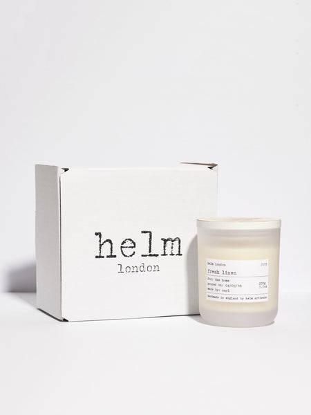 Fresh Linen Luxury Soy Candle by Helm London