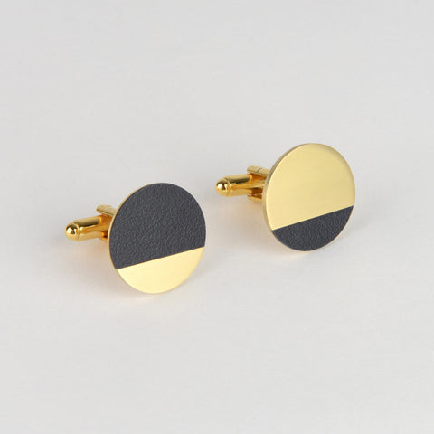 Form Segment Cufflink - Midnight - Tom Pigeon