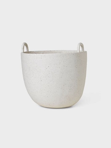 Large Speckle Pot, Off-White