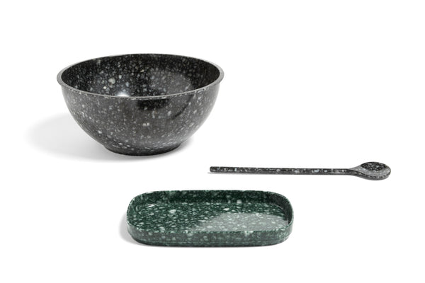 Marbled Black / Grey Serving Spoon - Fleck - by HAY