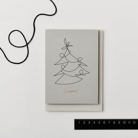 Illustrated Christmas Tree Card by Kinshipped