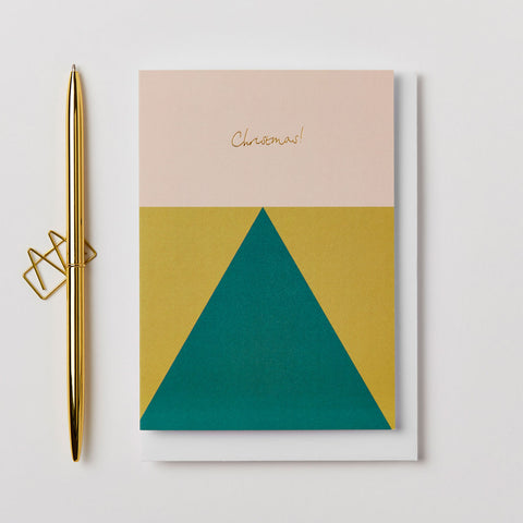 Geometric Christmas Card by Kinshipped