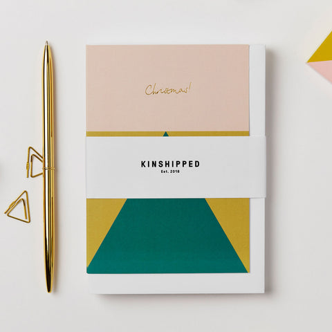 Geometric Christmas Card - Pack of 6 - by Kinshipped
