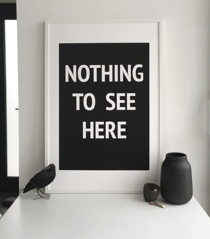 Nothing to See Here unframed print by SOOuK