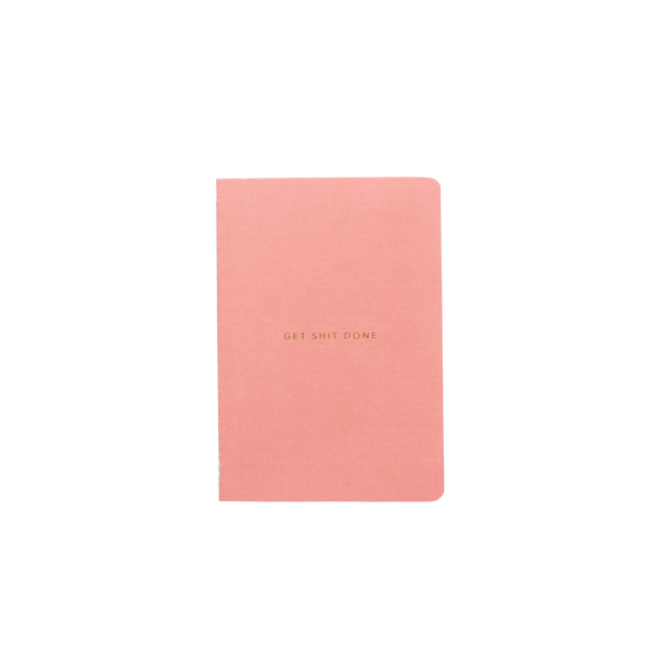 Notebook - Get Shit Done - Minimal in Coral by MiGOALS