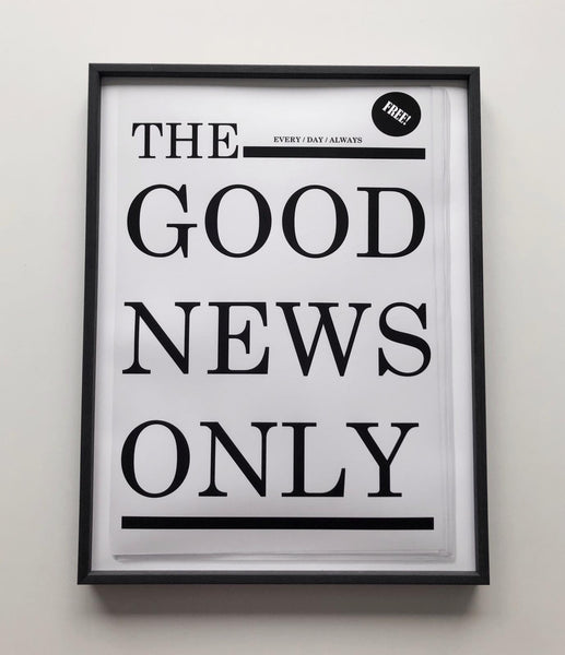 Good News print in 30 x 40 cm - unframed - by SOOuK
