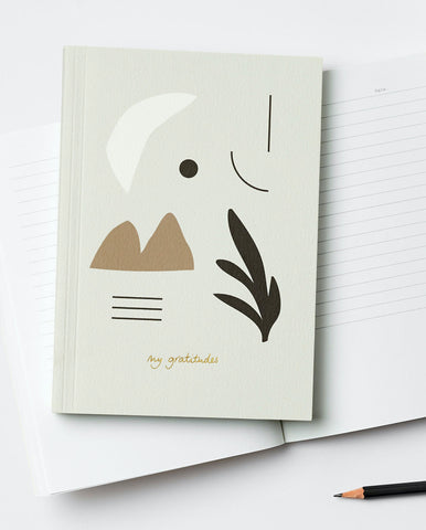 Gratitude Journal / Notebook - Lay Flat Binding - by Kinshipped