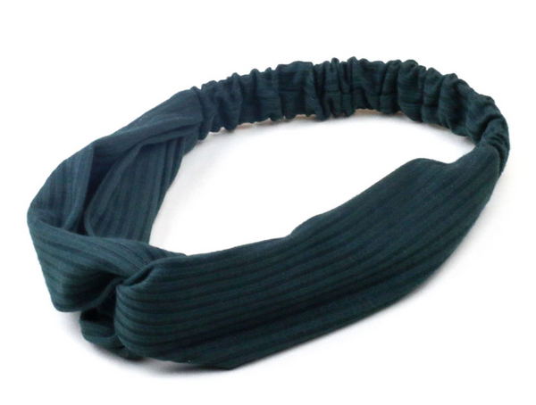 Fabric Hairband in Dark Green Colourway - by Weathered Penny