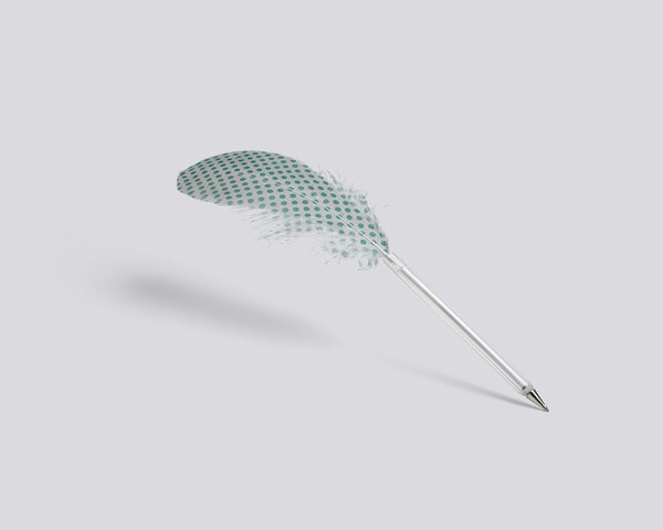 Feather pen with green dots by HAY