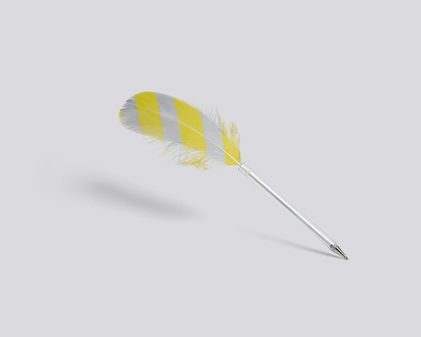 Feather pen with yellow diagonals by HAY