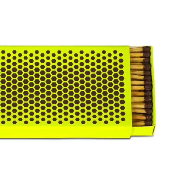 Close up of Strike Matchbox (Fluorescent yellow) by HAY
