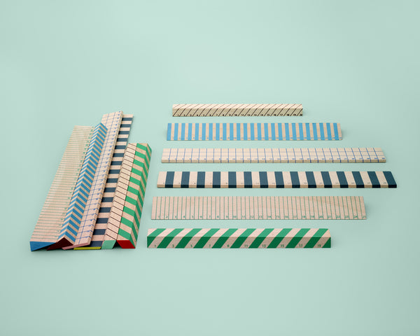Wooden Ruler (Green/Blue) by HAY context image