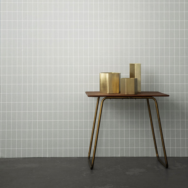 Hexagon brass planter/pot large (context) by ferm LIVING