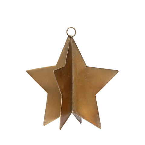 Image of brass star Christmas decoration by Hubsch