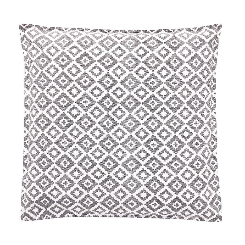 Image of patterned cushion in grey and white by Hubsch