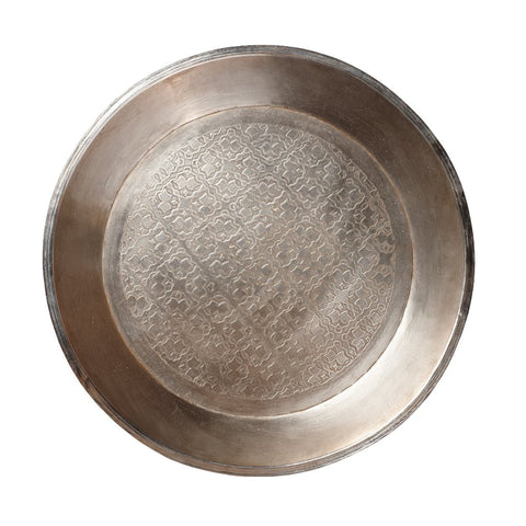 Image of silver tray with antique finish by Hubsch