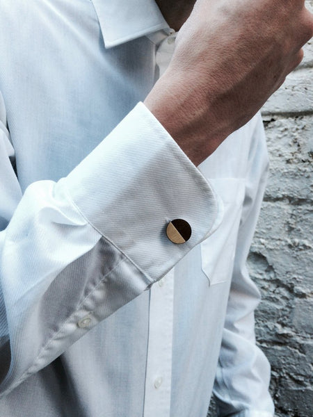James Cufflinks in Walnut & Metal by Form London