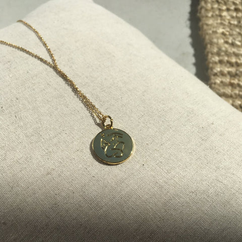 Emily pendant with 14ct gold filled chain - by James Wilson