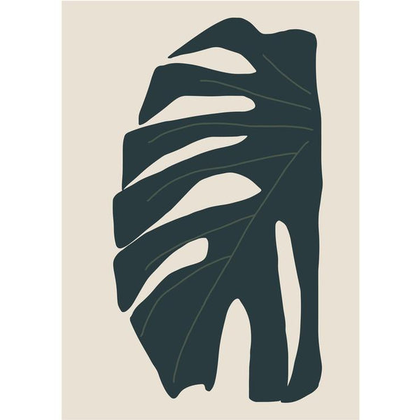 Monstera Leaf Print in Green A3 by James Wilson