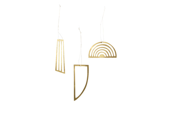 Golden Ornaments ( set of 3) by ferm Living