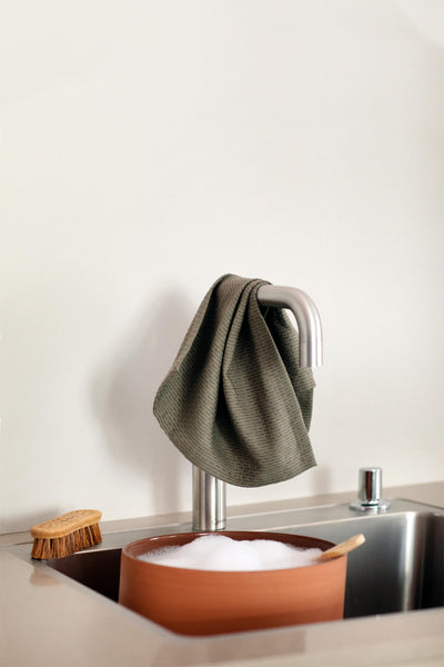 Kitchen and Wash Cloth in Stone Rose by The Organic Company