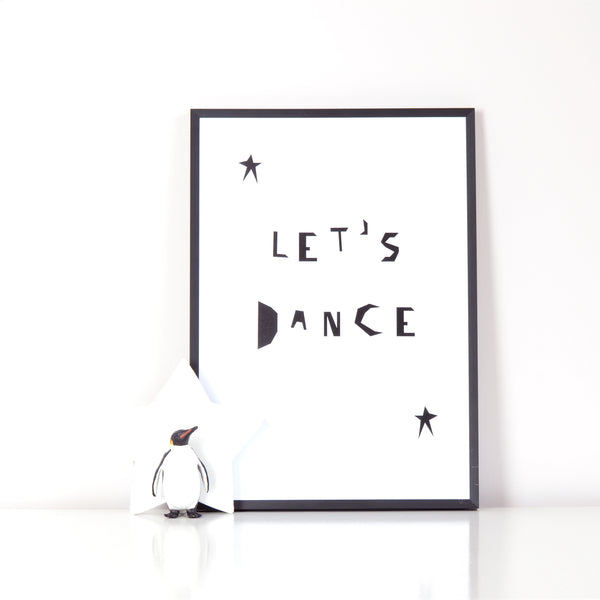 Let's Dance Print A4 by Ingrid Petrie