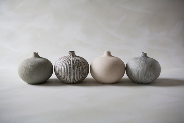 Vase with Grey Stripe Half Way Down - Bari - by Lindform