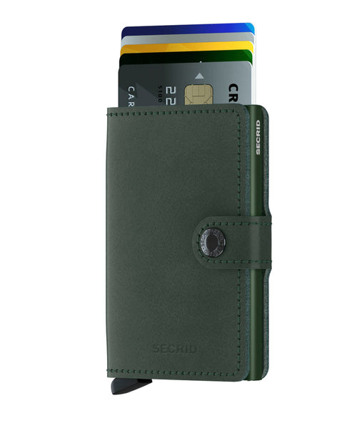 Miniwallet in Original Green Leather by Secrid Wallets
