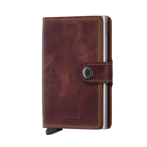 Miniwallet in Vintage Brown by Secrid Wallets