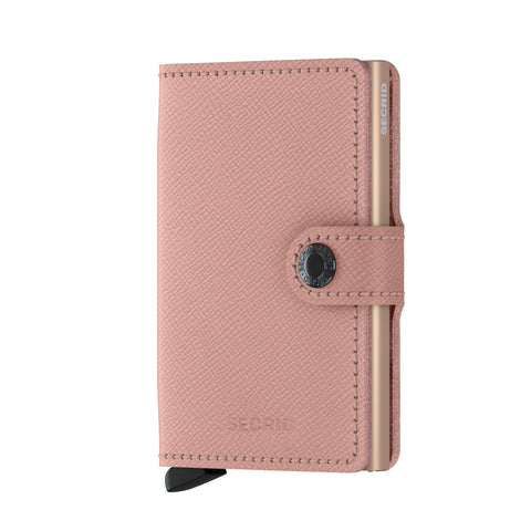 Miniwallet in Crisple Rose Leather with Floral inner by Secrid Wallets